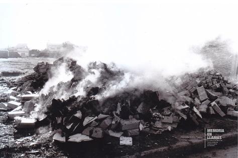 quema de libros - nina peña - libros