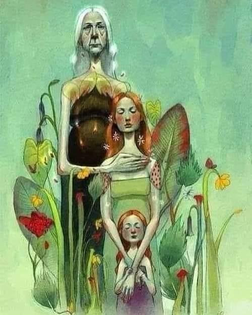 mujeres - abuela - mujer - niña