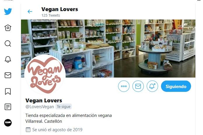 twitter - vegan - tienda - comida